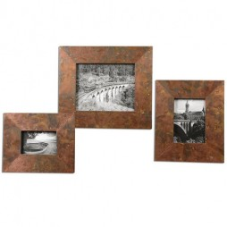 Ambrosia Copper Photo Frames S/3 18564