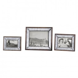Daria Antique Mirror Photo Frames S/3 18567