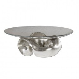 Entwined Silver Leaf & Glass Bowl 19484