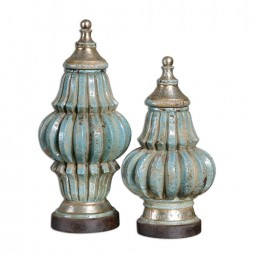 Fatima Sky Blue Decorative Urns