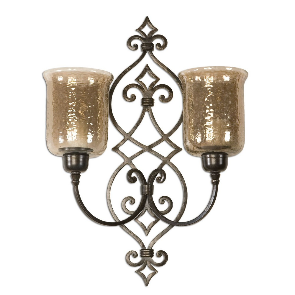 Double Metal Wall Lights : Sorel Metal Double Wall Sconce 19564