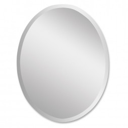 Frameless Large Oval Mirror 19590 B