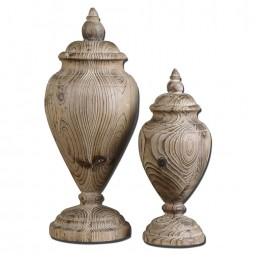 Brisco Carved Wood Finials