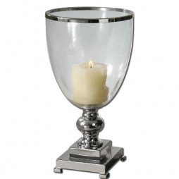 Lino Clear Glass Candleholder 19718