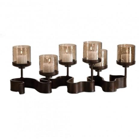 Ribbon Metal Candleholders 19731