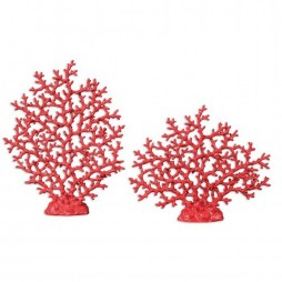 Red Coral Sculpture Set/2 19801