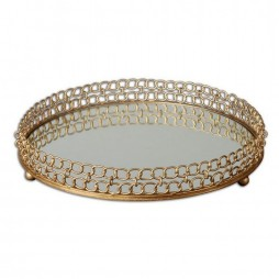 Dipali Mirrored Tray 19807