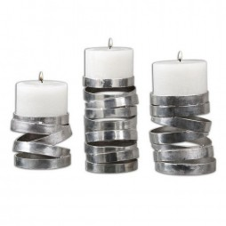 Tamaki Silver Candleholders