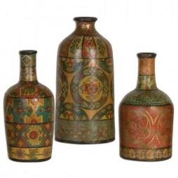 Sachi Terracotta Vases S/3 19814