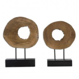 Ashlea Wooden Sculptures S/2 19822