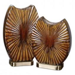 Zarina Marbled Ceramic Vases S/2 19867