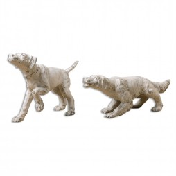 Hudson And Penny Dog Sculptures
