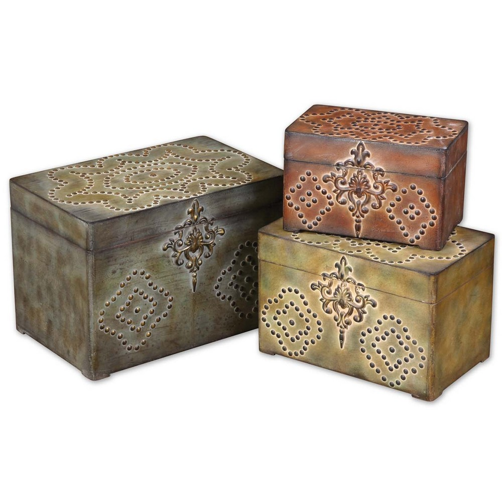 Decorative Boxes Storage: Uttermost Hobnail, Decorative Boxes