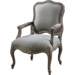 Uttermost Willa Steel Gray Armchair 23095
