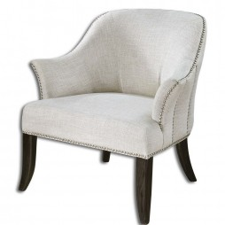 Leisa White ArmChair 23114