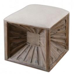 Jia Wooden Ottoman 23131