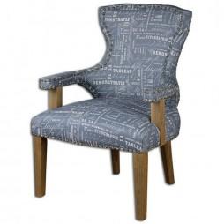 Citographie Gray Linen Armchair 23168