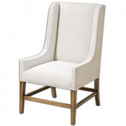 Dalma Linen Wing Chair 23189