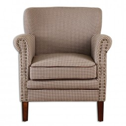 Tinsley Hounds-Tooth Club Chair 23205