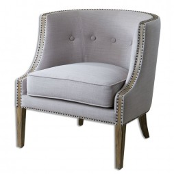 Gamila Light Gray Accent Chair 23220