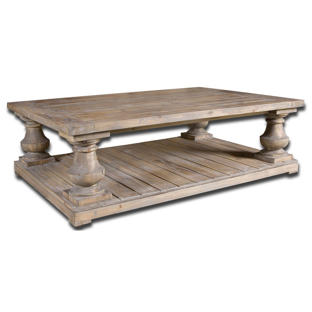 Accent Furniture Uttermost Stratford Rustic Cocktail Table 24251
