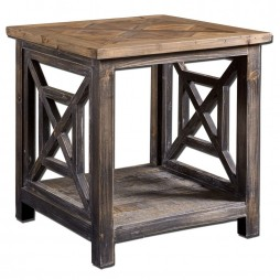 Spiro Reclaimed Wood End Table 24263
