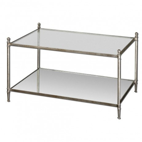 Gannon Mirrored Glass Coffee Table 24281