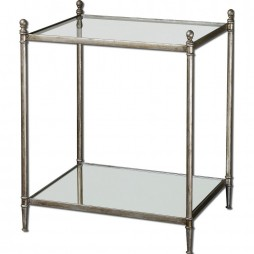 Gannon Mirrored Glass End Table 24282