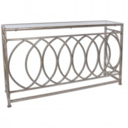 Aniya Glass Top Console Table 24306