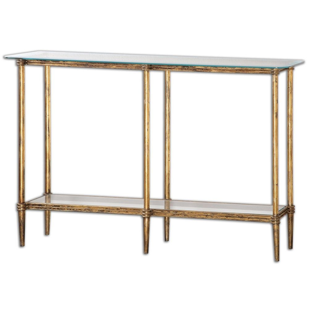 Elenio glass console table 24421 for Sofa table glass