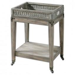 Davaughn Wooden Serving Cart 24431