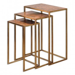 Copres Oxidized Nesting Tables Set/3 24449
