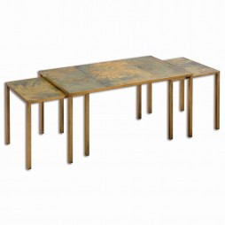 Couper Oxidized Nesting Coffee Tables Set/3 24450