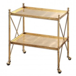 Amaranto Gold Serving Cart 24464