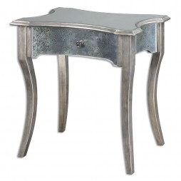 Jovannie Mirrored Accent Table 24508