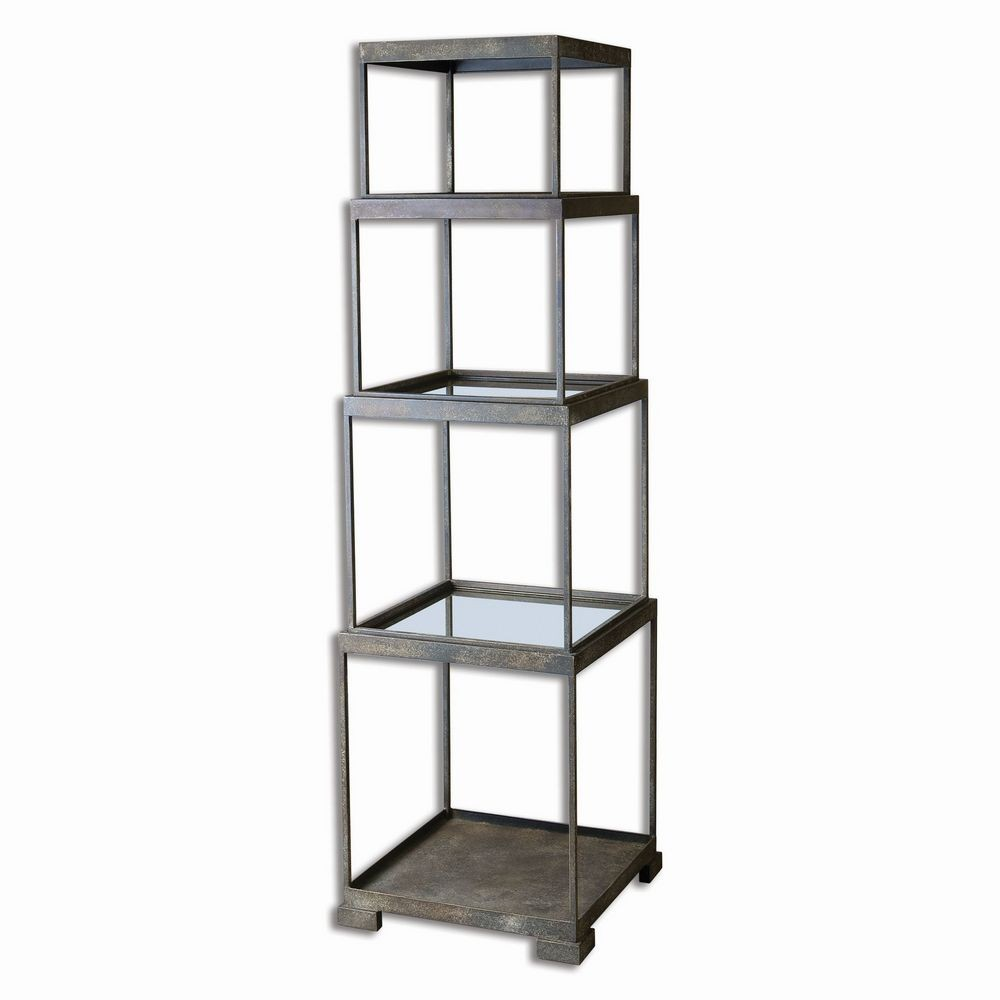 friedman metal etagere 24513. Black Bedroom Furniture Sets. Home Design Ideas