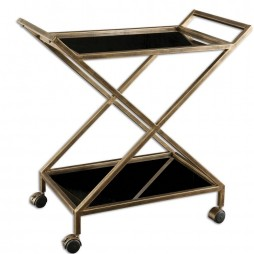 Zafina Gold Bar Cart 25013