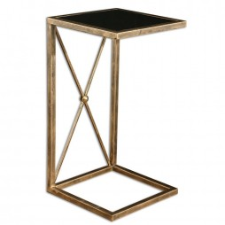 Zafina Gold Side Table 25014