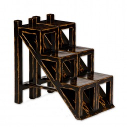 Asher Black Stepped Accent Table 25523