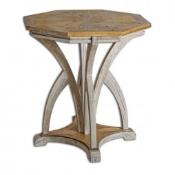Ranen Aged White Accent Table 25623