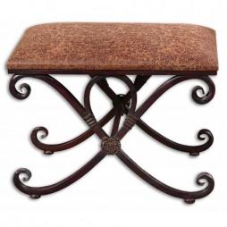 Manoj Distressed Small Bench 26122