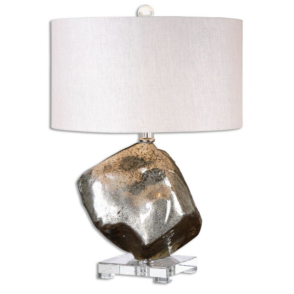 Home Accessories Everly Silver Glass Table Lamp 26605 1