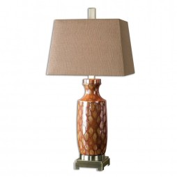Aguilar Rust Red Table Lamp 26648