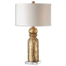 Lorenzello Gold Leaf Table Lamp 26653-1