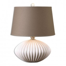 Bariano Gloss White Table Lamp 26660