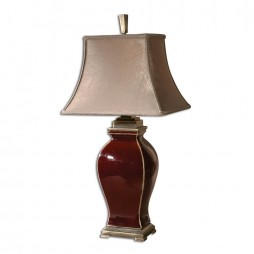 Burgundy Table Lamp Uttermost Rory 26684