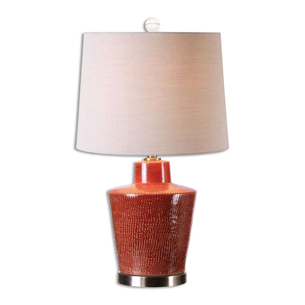 Home Accessories Cornell Brick Red Table Lamp 26903