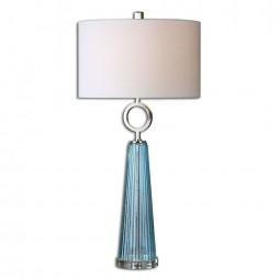 Navier Blue Glass Table Lamp 27698-1