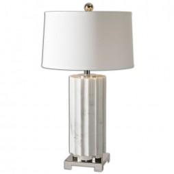 Castorano White Marble Lamp 27911-1