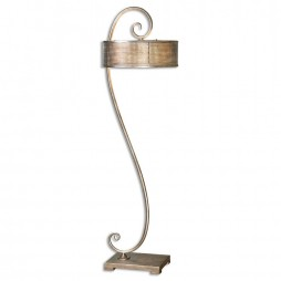 Dalou Scroll Silver Floor Lamp 28599